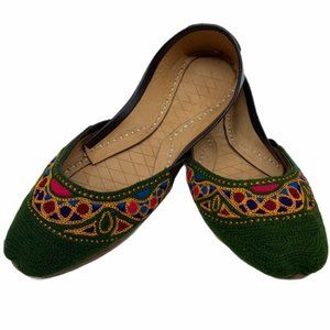 Traditional tribal handmade real leather shoes
